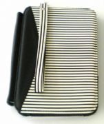 Black & White Stripe Kindle 3 Case with Magnetic LED Light